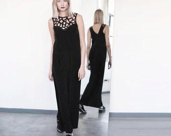 Black Maxi Dress, Black Evening Party Dress, Black Dress, gaudi Maxi.