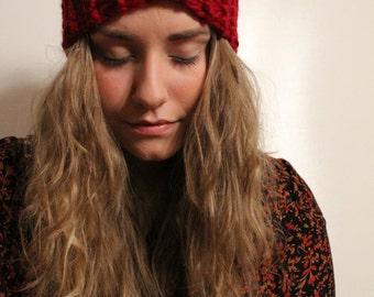 Hand Knit Twist Headband