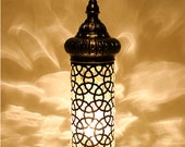 Turkish Handmade Mosaic Large And Tall Type Standing Lamp Floor Lamp