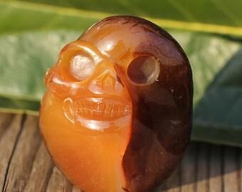 Natural Pretty loveliness skull,Agate Crystal Skull,Crystal Healing 069