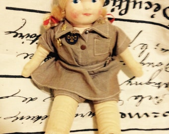 1930's Girl scout doll