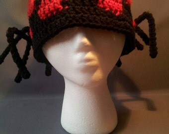 Crochet Minecraft Spider Hat with Legs-Made To Order