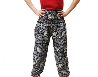 Elephant Strips Comfy Yoga Pants Wide Leg Pants  (YG01-16)
