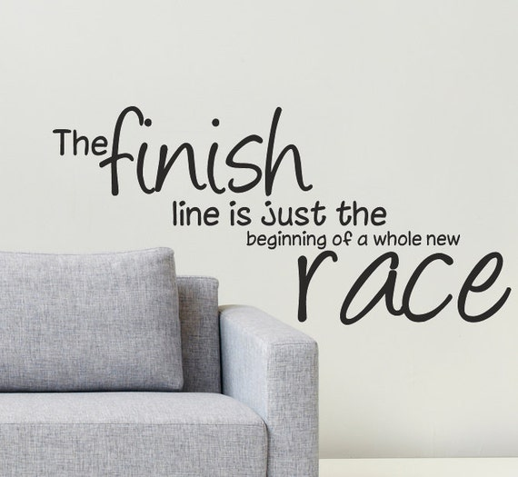 Image result for finish line beginning of whole new race