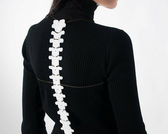 White spine - Body harness jewelry