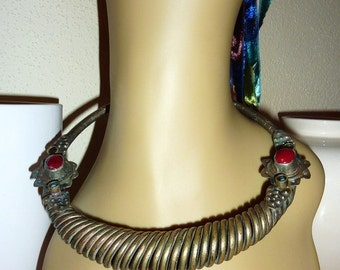 Old Afghan Choker with red stones