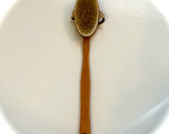 Boar Bristle Body Brush with Detachable Handle
