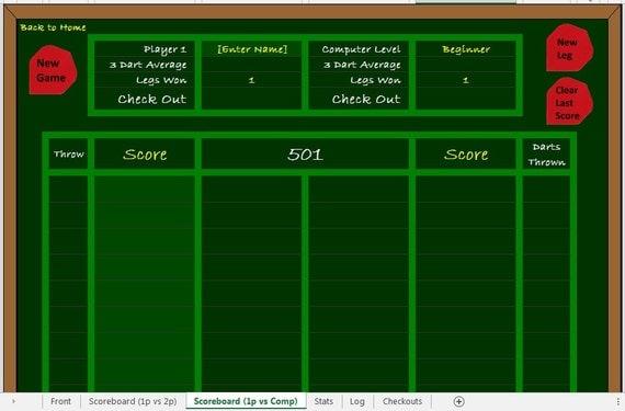 darts scorer vs computer