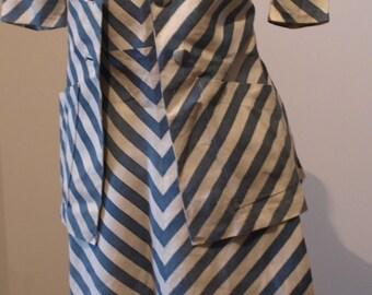 Robe et veste années  vers 1935  Tenue de bord de mer  en lin