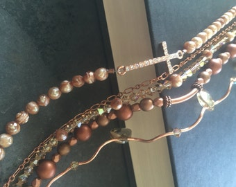 5 strand Cross Bracelet