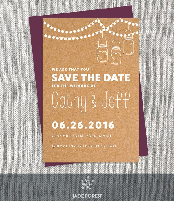String Lights Save The Date : String Lights Save The Date DIY // Contemporary Kraft