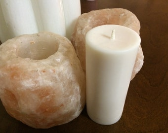 2x4.5 Inch Soy Pillar Candle, Custom Options Available