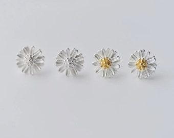 Earrings——925 Sterling Silver Daisy Earrings,Little daisy Earring Studs