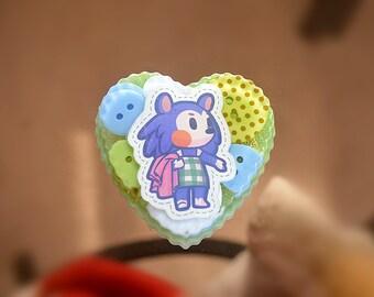 Animal Crossing Mabel resin charm