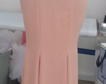 pink evening dress with removble sleeves