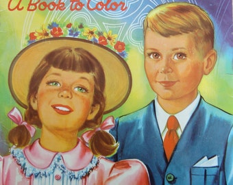 My Favorite Prayers - A Book to Color - Vintage Children's Prayer Coloring Book