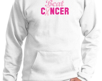 Breast Cancer Awareness Men's Hoodie Beat Cancer Hoody BEAT-PC90H