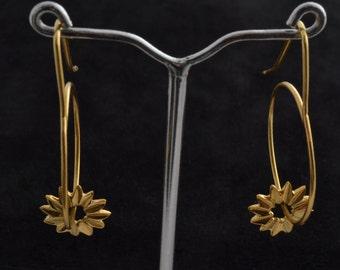 Sunshine Gold Earrings Handmade