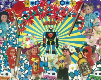 Hello LSD - collage art
