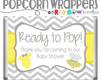 POPCW-796: DIY - Ties or Tutus Popcorn Wrapper - Instant Downloadable File