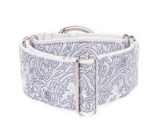 Martingale collar, greyhound collar, 2 inch, dog collar, martingale,martingale dog collar,white, dog collars