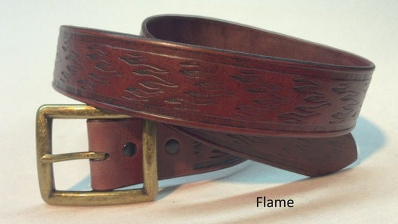 mahogany leather belt mahogany belt crafted