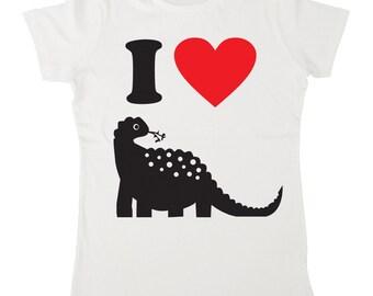 I Heart Dinosaurs Cute Women's Printed I Heart T-Shirt