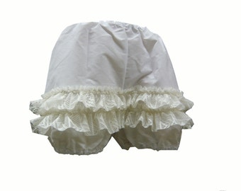 Bloomers Short Ladies Knickers White 1815