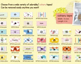 36 Styles Coharu Washi Tape Label