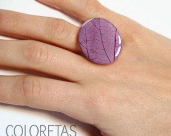 Purple Ivy Ring