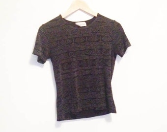 GRUNGE SPANDEX ABSTRACT Baby  T - S