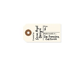Price Tag Stamp - Custom Business Rubber Stamp - Custom Hand Lettered Stamp - Created By Stamp