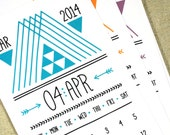 ARROWS Printable Monthly Calendar 2016 2017 Digital Instant Download Hipster Tribal Aztec Native American Downloadable Monthly Planner