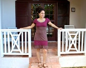 Organic Cotton and Hemp Ruffle Dress- Custom made and dyed just for you