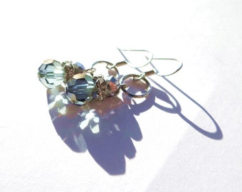 Metallic Dangle Beaded Earrings