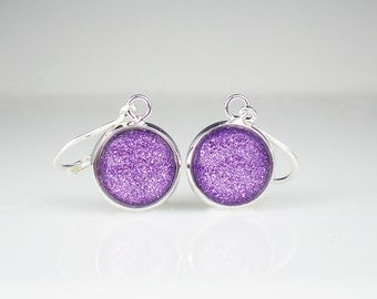 Lavender Purple Glitter Nail Polish Earrings Jewelry Tru Passion Nail Polish