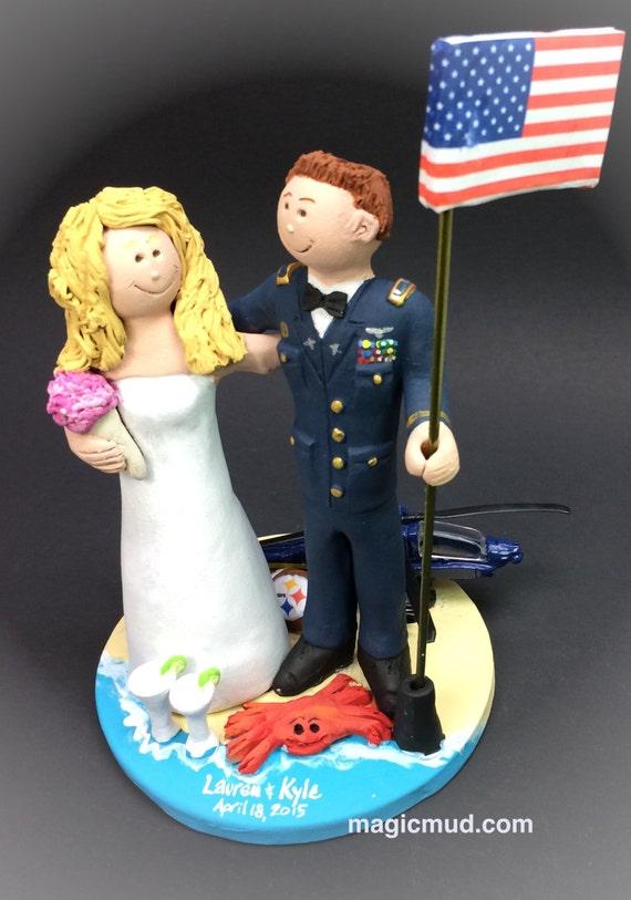 Blackhawk Helicopter Wedding Cake Topper Pilots Wedding