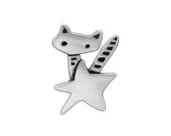 Sterling Star Cat Necklace - Silver Rocket Cat Pendant