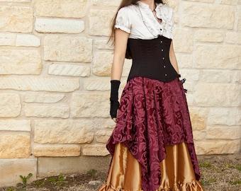 Burgundy Pixie Skirt Renaissance Halloween Costume