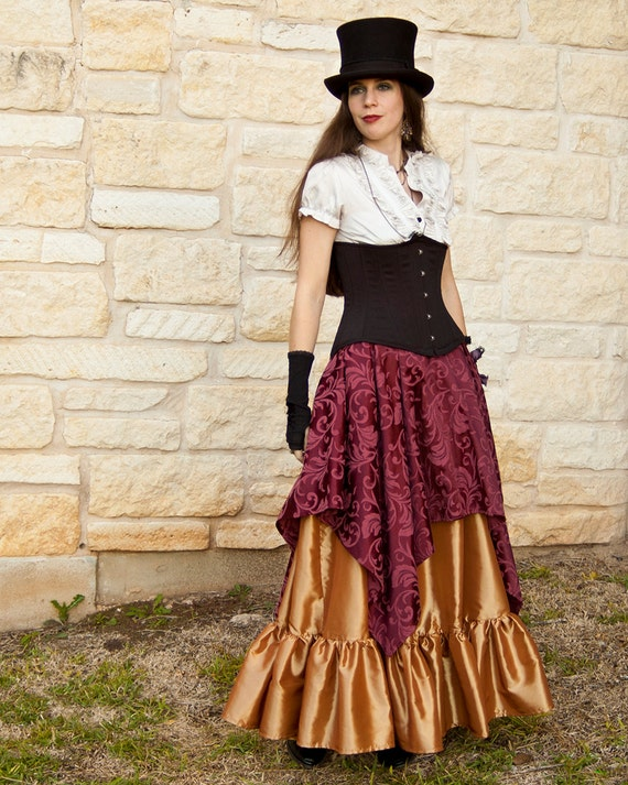 Burgundy Pixie Skirt Renaissance Halloween Costume
