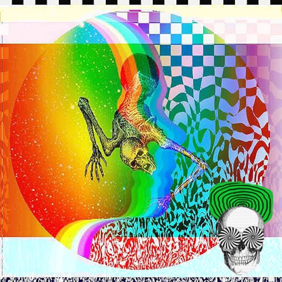 PSYCHEDELIC ALBUM COVER Art Colorful Mixed Media Art ...  PSYCHEDELIC ALB...