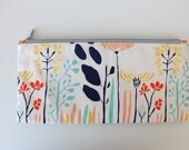 Zipper Pencil Pouch featuring Leah Duncan Fabric