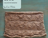 Chevron Cowl Loom Knitting Pattern and Tutorial