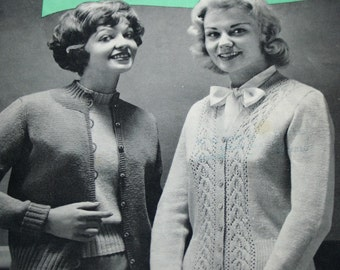 Knitting Patterns Style Knits Beehive 88 Sweater Knitting Patterns Cardigan Knitting Patterns Women Vintage Paper Original NOT a PDF