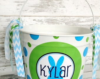 custom personalized 10 QUART Easter name bucket - choose your own easter design