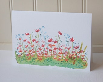 Wildflower Cards, Blank Note Cards Set, Flower Note Cards, Greeting Cards, Thank You Cards, All Occasion Cards