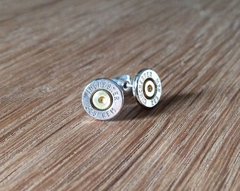silver 223 winchester remington bullet earrings | sterling silver stud earrings | gift for him | gift for her