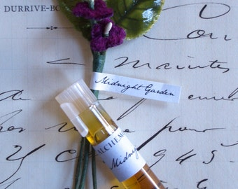 Midnight Garden Natural Perfume Sample Botanical Travel Sized Artisanal Small Batch Handmade in Brooklyn, NY