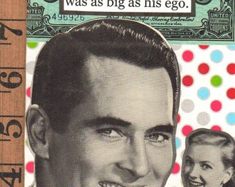 His Ego A Funny And Twisted Snarky Greeting Card Mature Theme