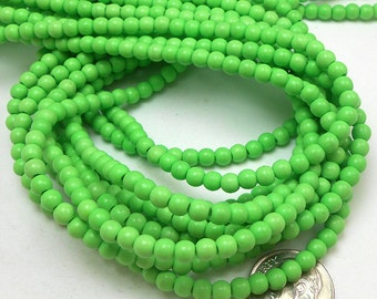 105 Apple Green Howlite Beads 4MM howlite bead (H7010)